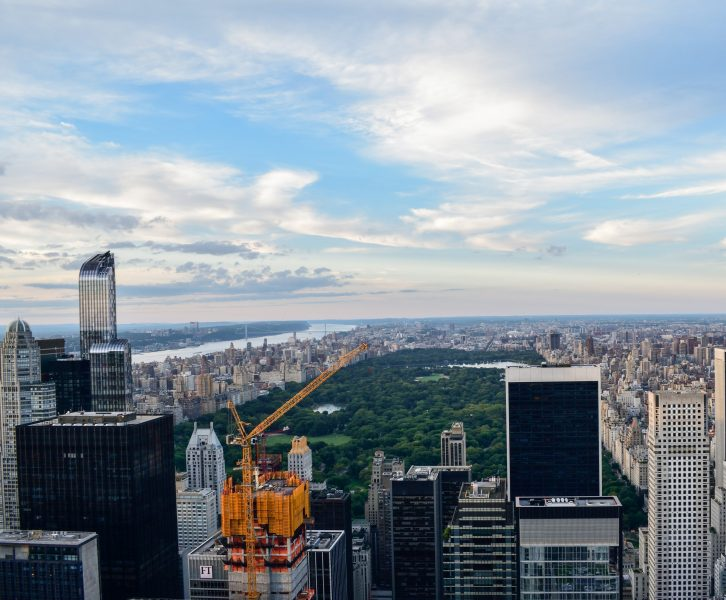 Agosto a New York vista dall'alto del Central Park