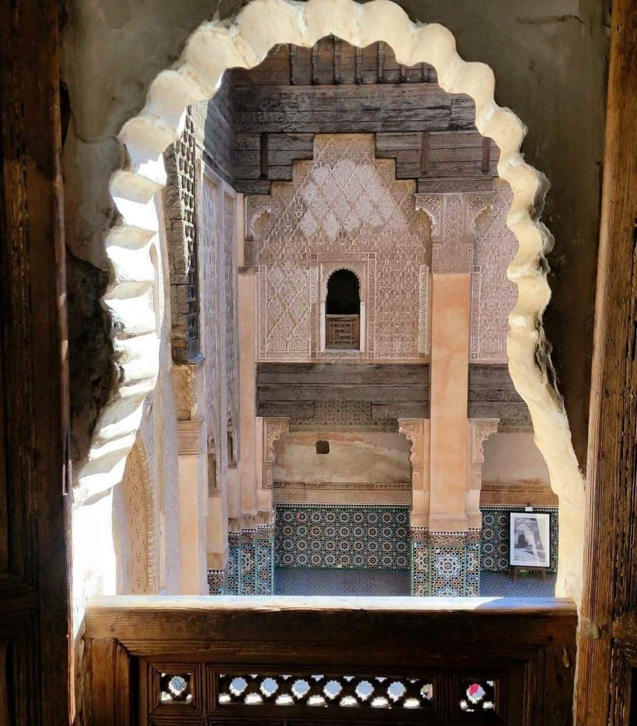 finestra sulla medersa marrakech