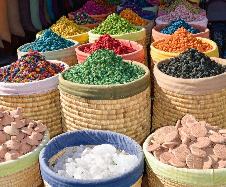 spezie marocchine colorate