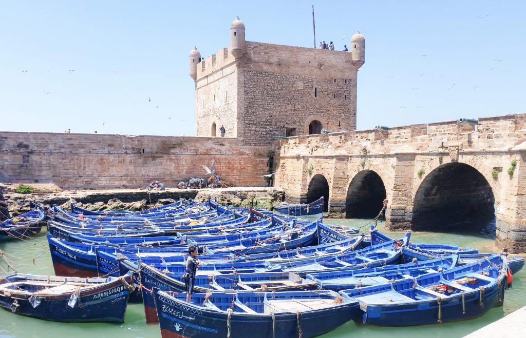 barchette blu porto essaouira