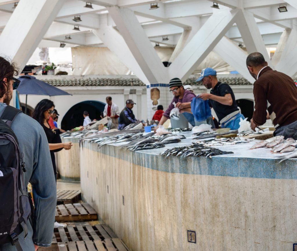 Mercato pesce essaouira