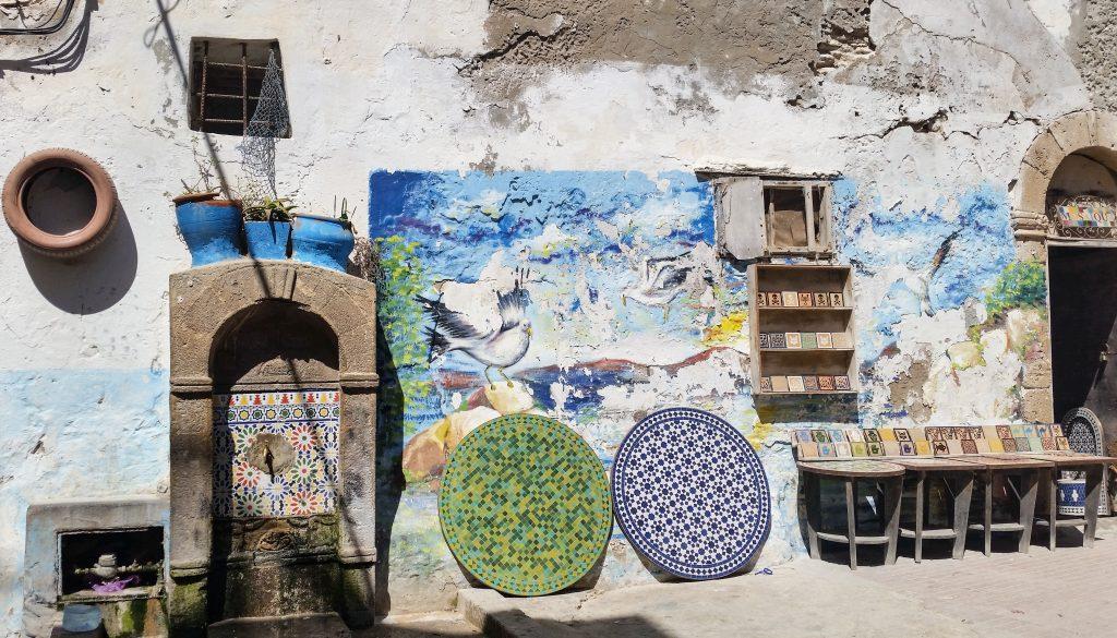 murales colorati essaouira città blu