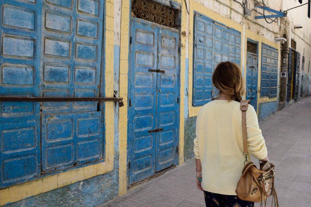 strade essaouira blu giallo