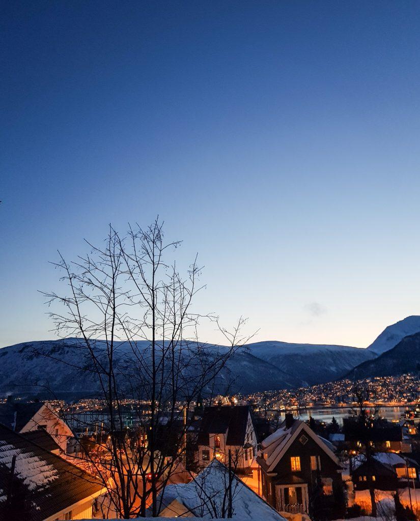 Case di legno innevate Tromsø