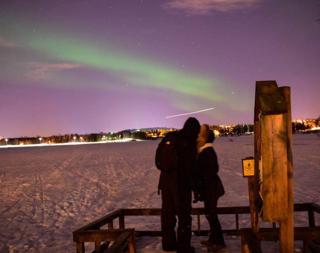 aurora boreale prestvannet lake