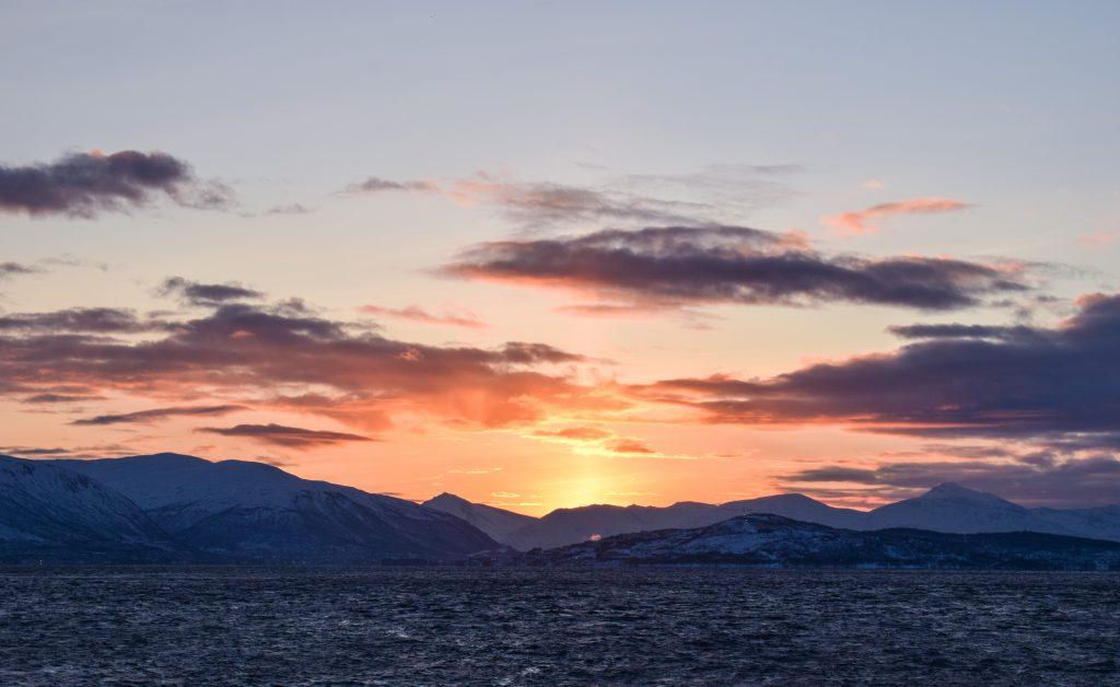 Primo sole dell'anno a Tromsø