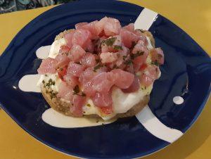 Frisa con tartare di tonno da Sofish