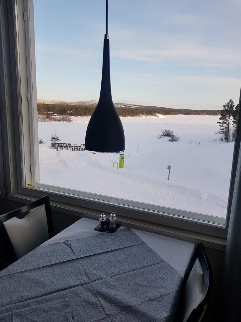 vista dal ristorante hotel inari